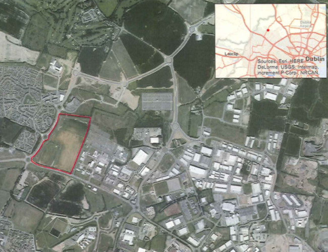 The campus, if approved, could contain upto eight ASW data centres. The campus is located Northwest of Dublin
