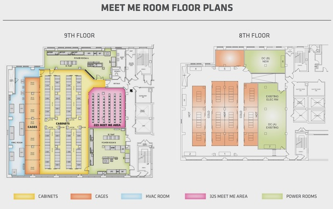 8th Colo and 9th floor MMR areas.