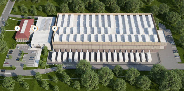 BuildingS A & B 12,560 SF office/support space at 320 / 350 Paul  Building B Floor 1 and 2, 25,000 SF data center to include mechanical, electrical, white floor space and dual MMR's.  Buildin...
