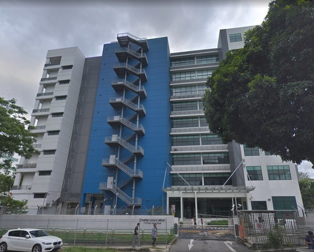 The AIMS facility is within the Telstra building at 110 Pay Lebar Road