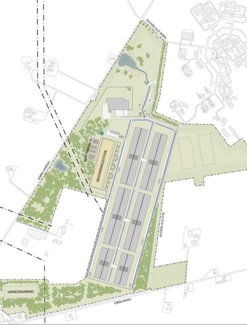 The plan calls for 6 data center buildings