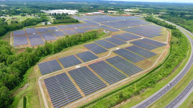 Apple built a three of 100-acre solar arrays adjacent to the company's Maiden NC data center. Each solar field will produce 20-megawatts.