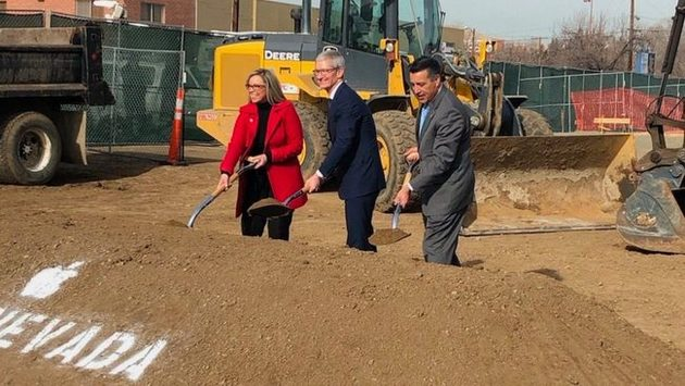 Groundbreaking for Apple's data center expansion in Reno.