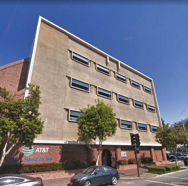 Street view of AT&T's data center in Palo Alto