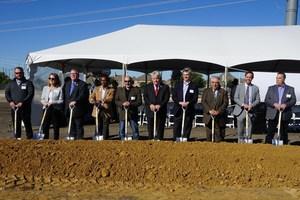 From Left to Right: Laramie Dorris, VP Design & Construction, Kellie Teal-Guess, CPO (Chief People Officer), Gary Caplinger, Allen Mayor Pro Tem Baine Brooks, Allen City Council Member John Hatem, ...