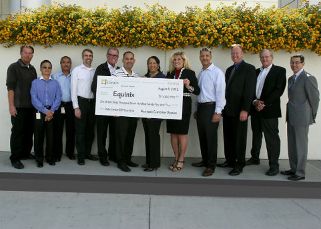 Equinix received a $1 million rebate from Southern California Edison (SCE) for upgrades to the LA3 facility that boosted energy efficiency. The rebate is part of SCE's program offered to businesses...