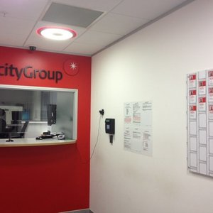 TelecityGroup lobby at HEX before Equinix acquisition and rebranding. Photo taken circa 2013.