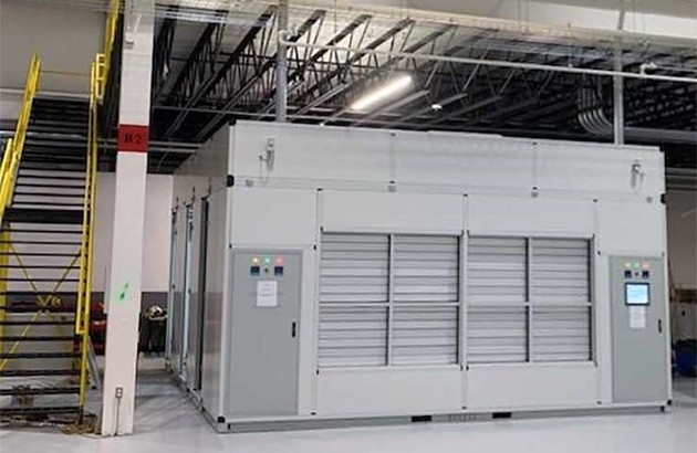 The WindChill Module design uses fresh air to cool servers, cooling it using an adiabatic cooling system in which air passes through water flowing through evaporative cooling media. The design uses...