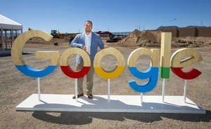 Andrew Silvestri, Google head of data center public policy & community development, at the construction site during a Google Nevada data center investment announcement in Henderson on Monday, July ...