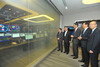Chief Executive of the Hong Kong Special Administrative Region C Y Leung (third from left) visits the Operation Control Centre of HKEx's new Data Centre with HKEx Chairman C K Chow (second from lef...