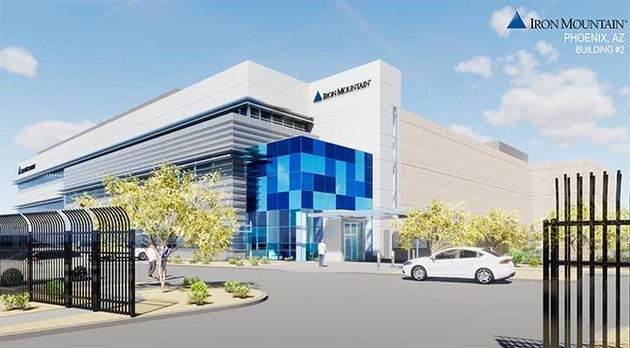 An illustration of Iron Mountain's new Phoenix data center, which will feature 48MW of capacity in two phases. First 24 MW is scheduled to be delivered in June 2019