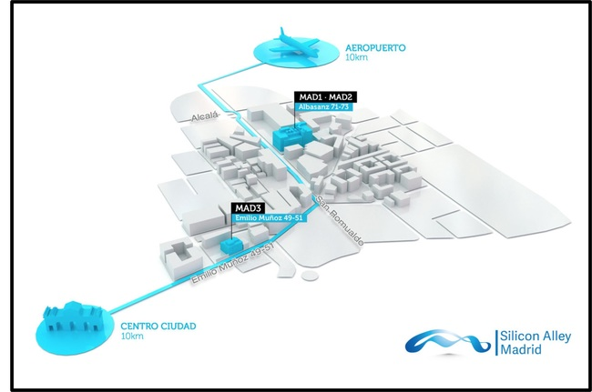 The illustration shows location of MAD1, MAD2, and the new MAD3 facility that will open in Q2 2019