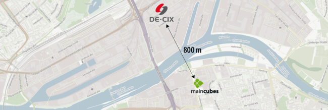 The facility at Goethering 29 is in close proximity to one of DE-CIX's main nodes.
