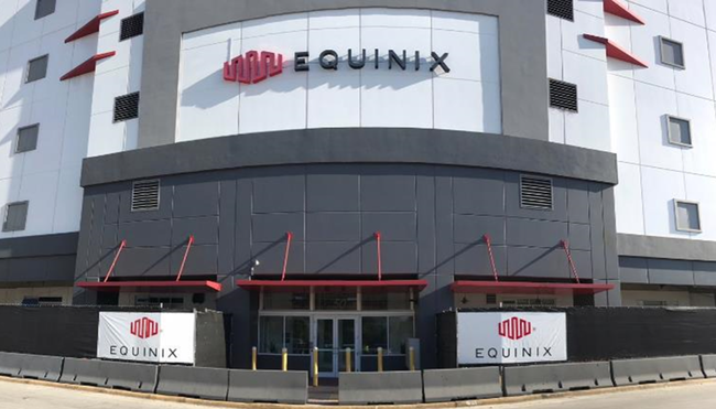 Front Entrance of Equinix's MI1 site. Circa 2018