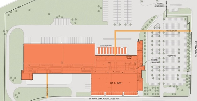 Phase 1 has 6 MW of power and 48,000 square feet of raised floor space