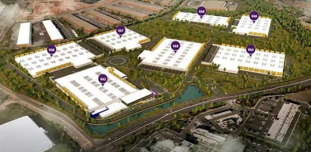 RagingWire plans 7 buildings on the campus. VA3, VA4, VA5, VA6, VA7, VA8, and VA9.