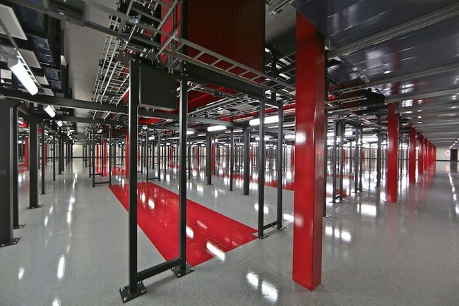 "The ""Black Iron Forest"" is a framework of extra-thick steel that supports Switch's containment systems, but also serves as a thermal storage system, retaining temperature to help keep the room cool..."