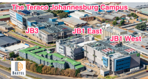 There are 3 buildings on campus * JB1 East * JB1 West  * JB3